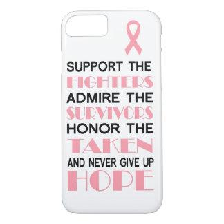 乳癌は決して希望の電話箱をあきらめません iPhone 8/7ケース