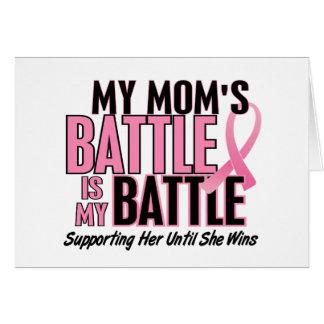 乳癌私の戦い余りに1人のお母さん カード