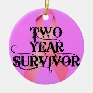 乳癌2年の生存者 セラミックオーナメント