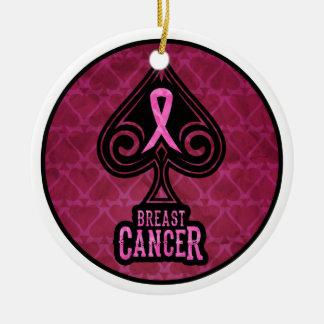 乳癌-オーナメント-スペードの版 セラミックオーナメント