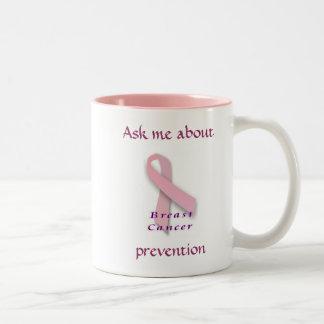 乳癌-マグについて私に尋ねて下さい ツートーンマグカップ