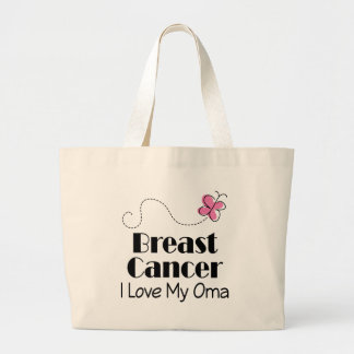 乳癌I愛私のOma ラージトートバッグ