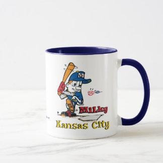 乳白色の野球選手カンザスシティ マグカップ