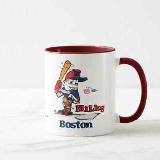 乳白色の野球選手ボストン マグカップ