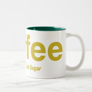 乳白色コーヒー1つの砂糖 ツートーンマグカップ