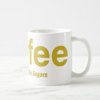 乳白色コーヒー2つの砂糖 コーヒーマグカップ