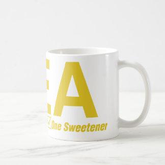 乳白色茶1つの甘味料 コーヒーマグカップ