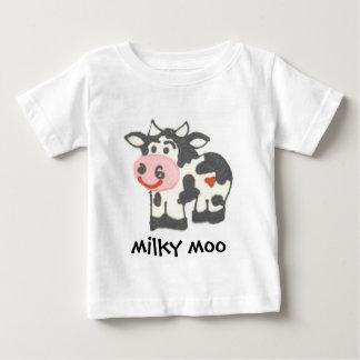 乳白色Mooのティー ベビーTシャツ