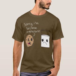 乳糖不耐症のワイシャツ Tシャツ