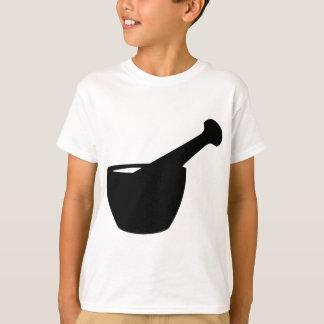 乳鉢および乳棒のシルエット Tシャツ