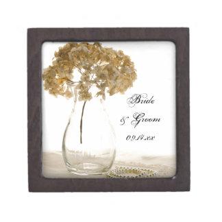 乾燥されたアジサイの結婚祝い箱 ギフトボックス
