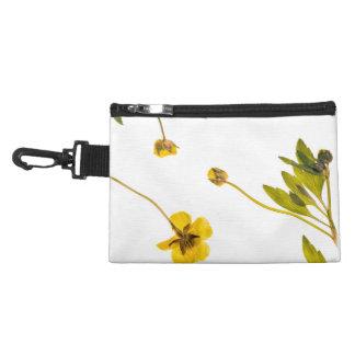 乾燥されたキンボウゲの花 アクセサリーバッグ