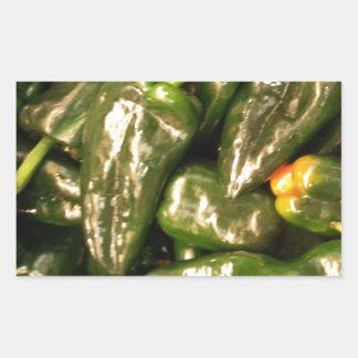 乾燥されたハラペーニョのコショウ 長方形シール