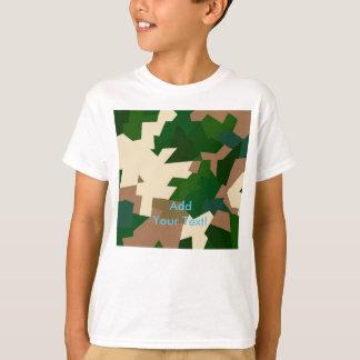乾燥したツンドラ迷彩柄 Tシャツ