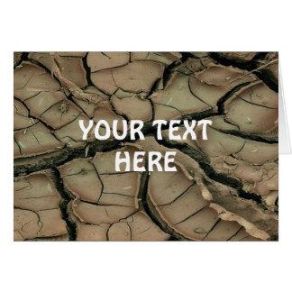 乾燥した地球 + あなたの文字 カード
