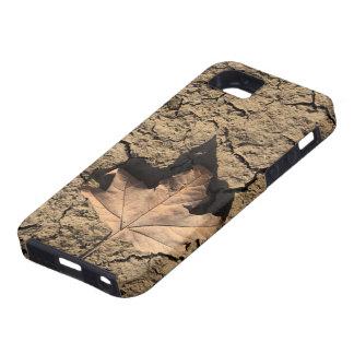 乾燥した汚れた土-秋の写真撮影の死んだ葉 iPhone SE/5/5s ケース