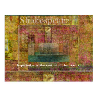 予想についてのウィリアム・シェイクスピアの引用文 ポストカード