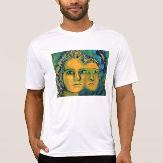予想-金ゴールドおよびエメラルドの女神 Tシャツ