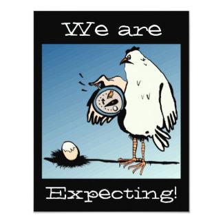 予期している鶏のベビーの発表 カード