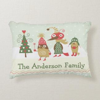 """予測できないクリスマスの乗組員の綿のアクセントの枕16"""" x 1 アクセントクッション"""
