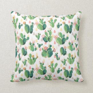 予測できないサボテンの庭のテーマの枕 クッション