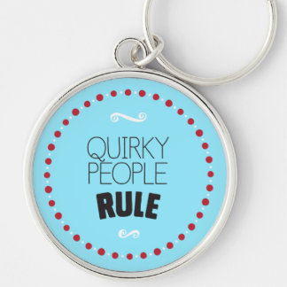 予測できない人々の規則-青 キーホルダー