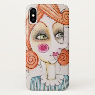 予測できない女の子のイラストレーションのカラフルなIPhone Xの箱 iPhone X ケース