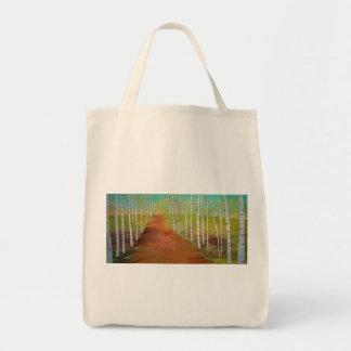 予測できない樺の木のトート トートバッグ