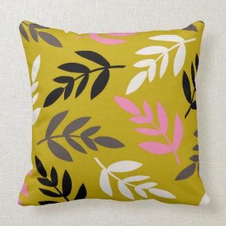 予測できない葉パターン-家の装飾の枕 クッション