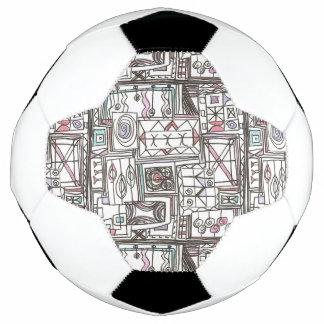 予測できなお洒落で幾何学的な落書き サッカーボール
