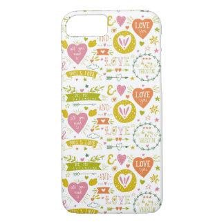 予測できなくロマンチックなテーマのiPhoneの場合 iPhone 8/7ケース