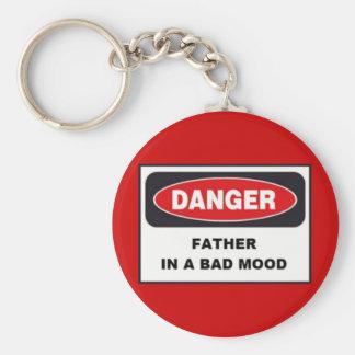 予算のキーホルダー、危険、悪い気分の父! キーホルダー