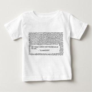 予算の削減 ベビーTシャツ