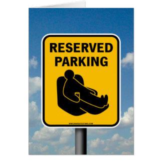 予約駐車 グリーティングカード