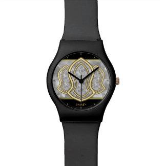 予言者の(白い)大理石及び金ゴールドのサンダル 腕時計