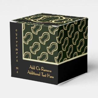 予言者の(緑の)大理石及び金ゴールドのサンダル フェイバーボックス