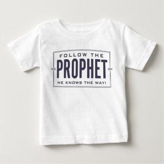 予言者を後を追って下さい。 幼児ワイシャツ ベビーTシャツ