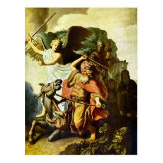 予言者Balaamおよびレンブラント著ろば ポストカード