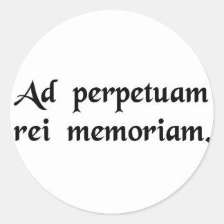 事の永遠の記憶のため ラウンドシール