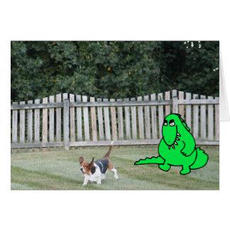 """""""事はいかにありますか。""""バセット犬を追跡するカードw/Monster カード"""