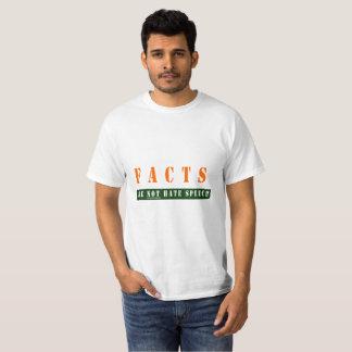 事実はヘイトスピーチのティーではないです Tシャツ