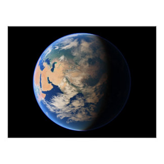 事実上の惑星の地球の惑星の眺め04中東a ポスター