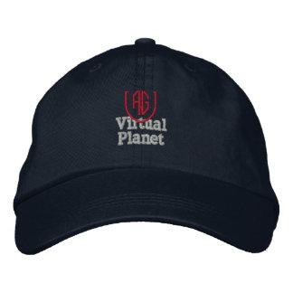 事実上の惑星の濃紺の帽子 刺繍入りキャップ