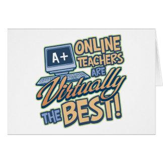 事実上最も最高のなオンライン先生 カード