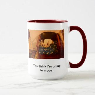 事私は動こうと思っています マグカップ
