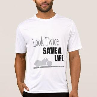 二度見て下さい、生命を救って下さい Tシャツ