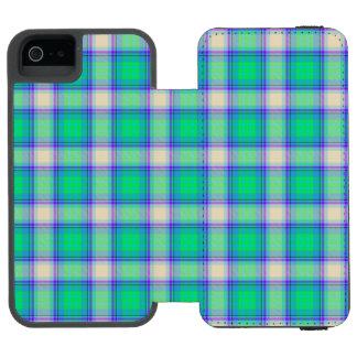二番目にフィボナッチ格子縞の真面目な数学のタータンチェック INCIPIO WATSON™ iPhone 5 財布 ケース