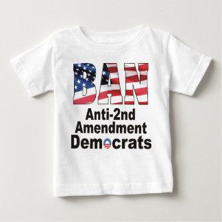 二番目の禁止のアンチの修正の民主党員のベビーT ベビーTシャツ