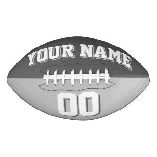 二色のダークグレーおよび銀製のカスタムなフットボール アメリカンフットボール