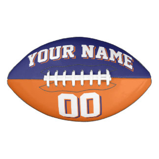 二色の濃紺およびオレンジの習慣のフットボール アメリカンフットボール